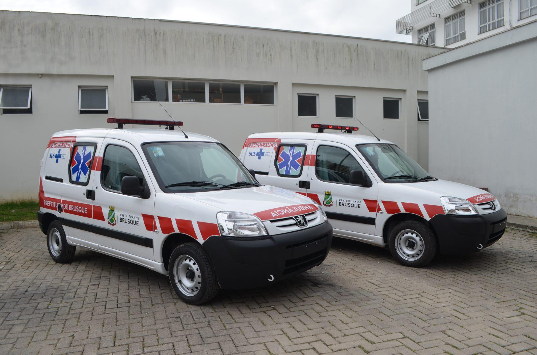 Secretaria de Saúde de Brusque passa a contar com mais duas ambulâncias