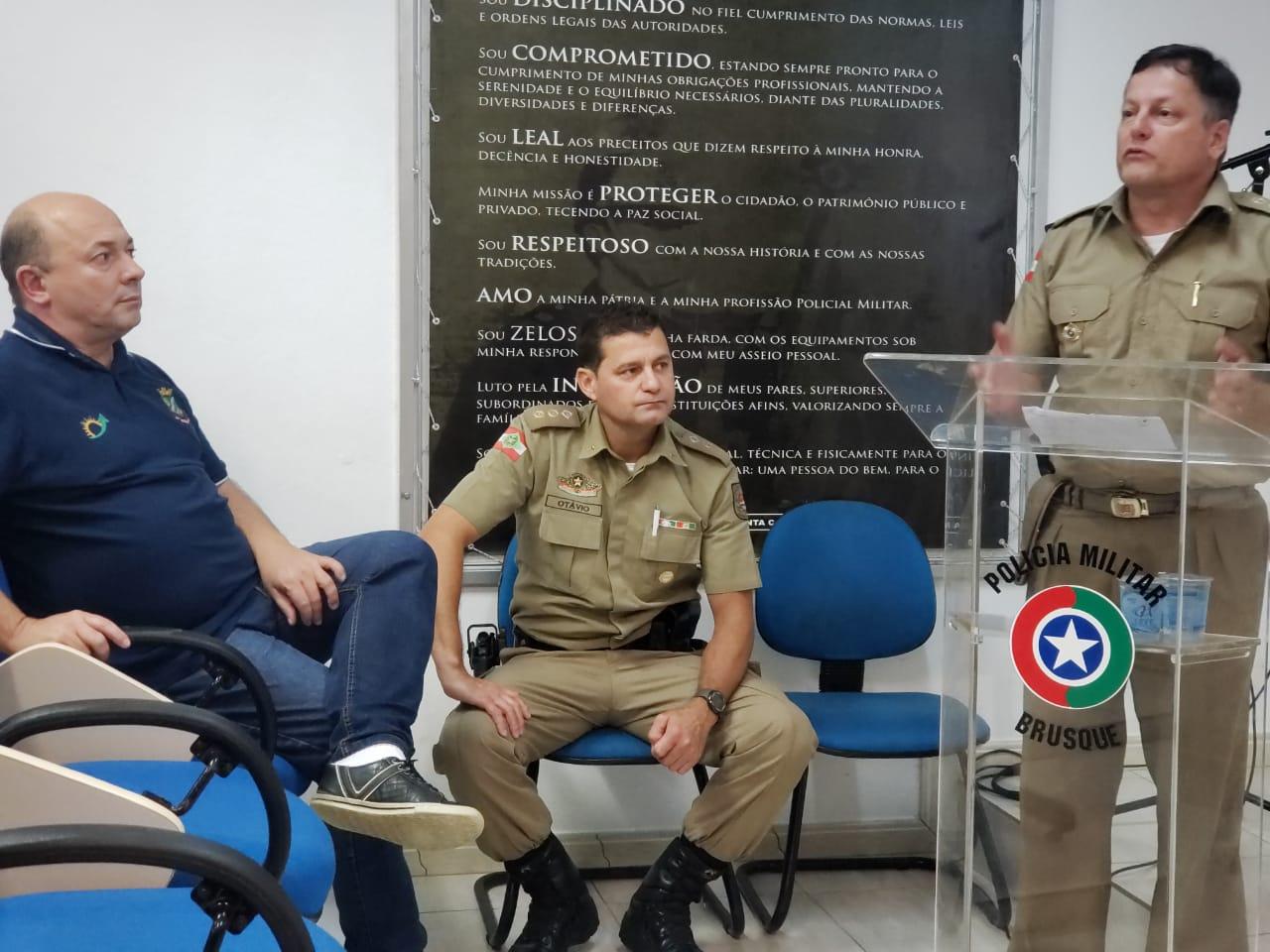 Convênio firmado com Prefeitura de Brusque possibilita aquisição de armas de grosso calibre para Polícia Militar