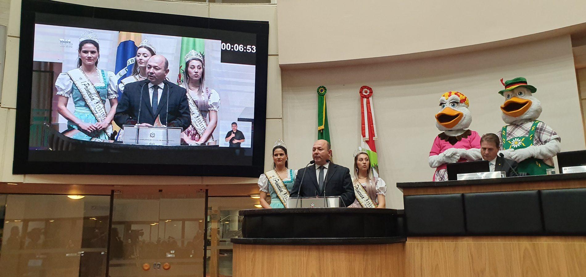 Fenarreco recebe espaço para divulgação durante sessão na Assembleia Legislativa de Santa Catarina