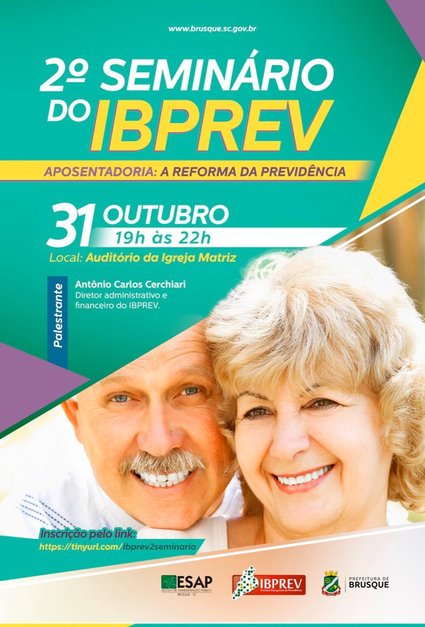 Segundo seminário do Ibprev ocorre nesta quinta-feira (31)