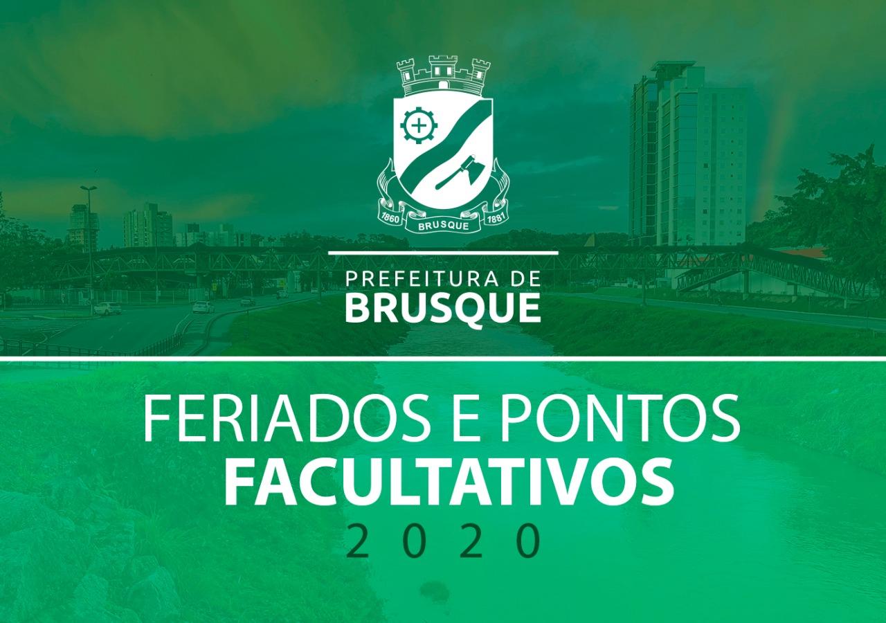 Prefeitura divulga data dos feriados oficiais e pontos facultativos de 2020