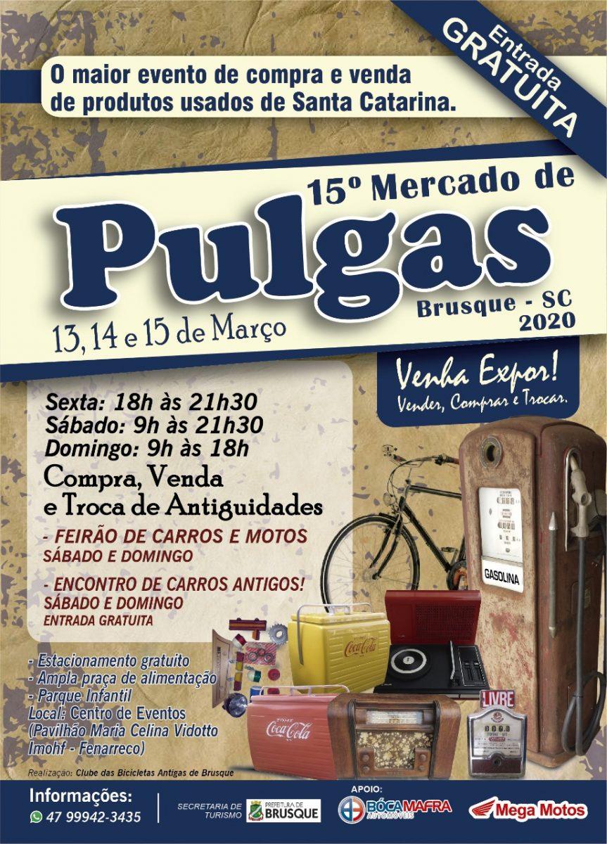 15º Mercado de Pulgas começa nesta sexta-feira (13)