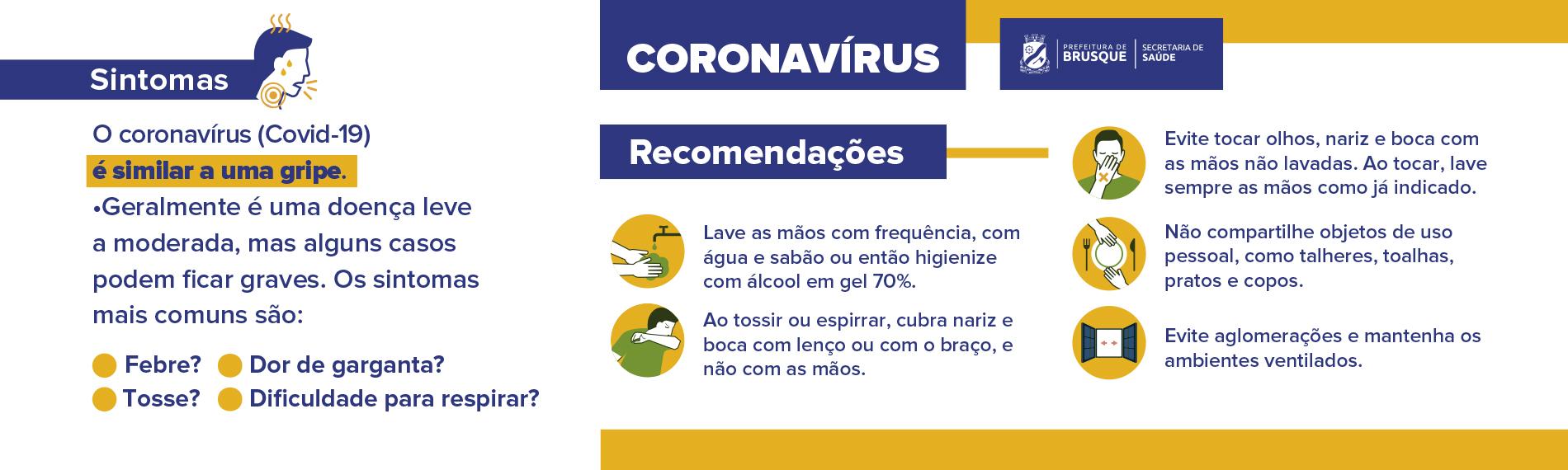 Banner Corona – Recomendações