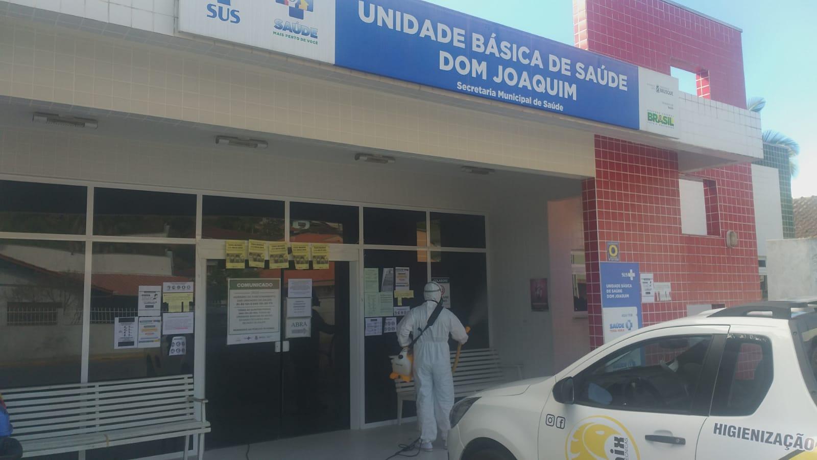 Unidade Básica de Saúde do bairro Dom Joaquim passa por desinfecção
