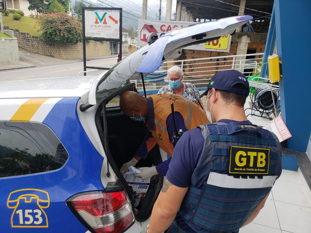 Coronavírus: Prefeitura de Brusque faz ação de conscientização nos comércios da cidade