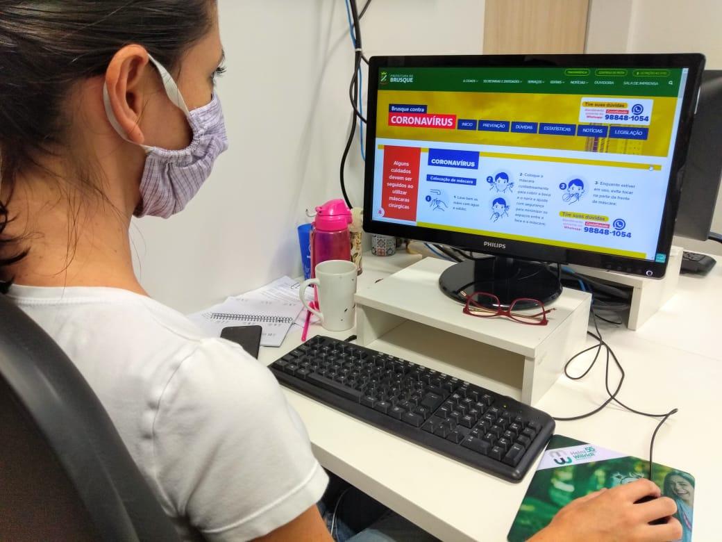 Prefeitura de Brusque lança hotsite para centralizar informações sobre Coronavírus
