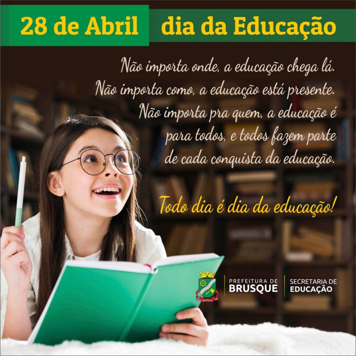 Dia da Educação é comemorado nesta terça-feira (28)