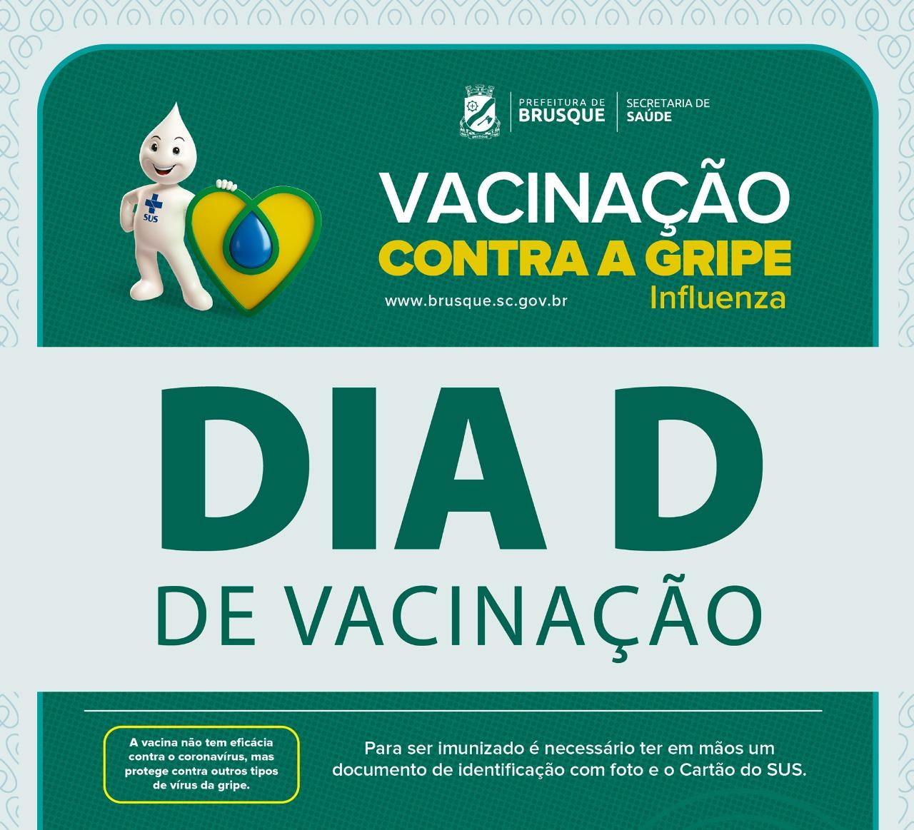 """Secretaria da Saúde fará """"Dia D"""" da vacinação contra a gripe com """"Drive-thru"""" na próxima terça-feira (12)"""