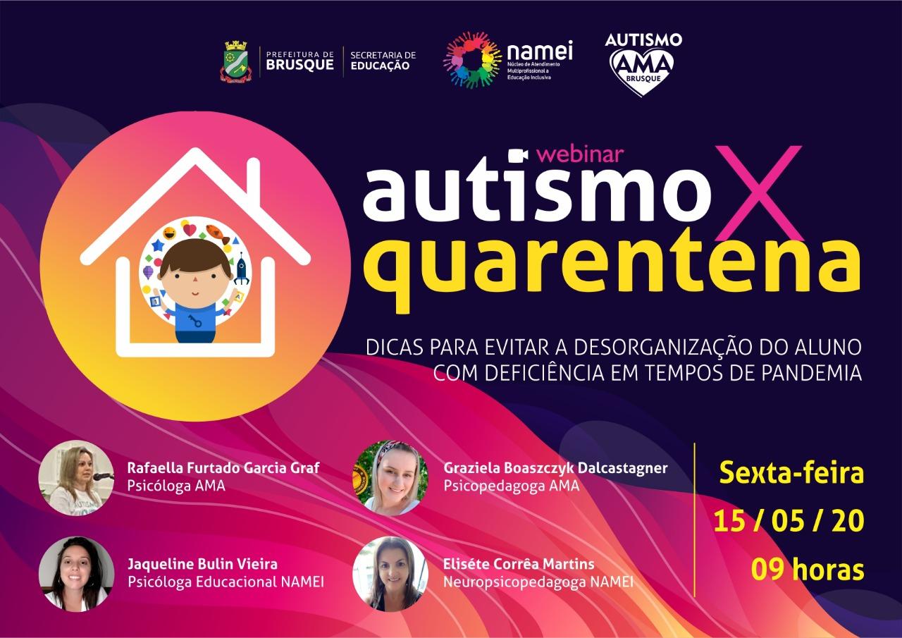 Secretaria de Educação realiza formação on-line sobre autismo em parceria com Ama Brusque