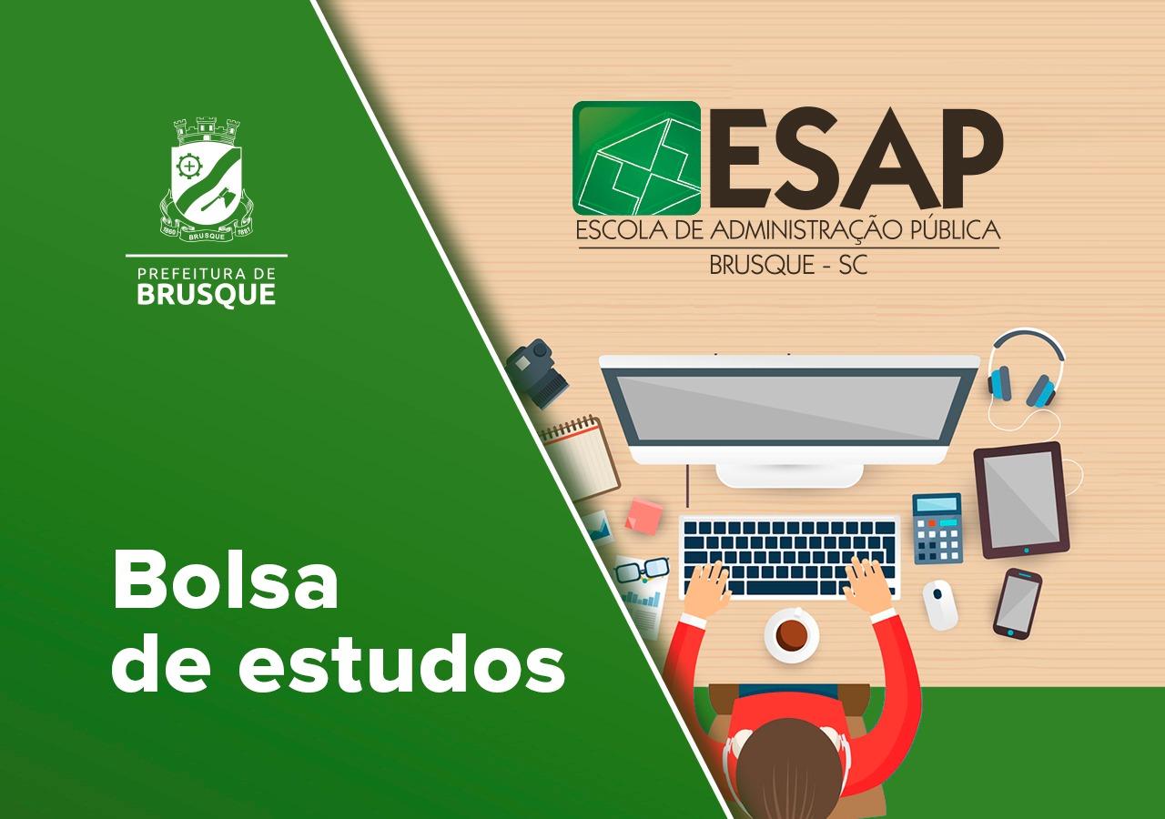 Prefeitura de Brusque lança edital de bolsa de estudos para servidores