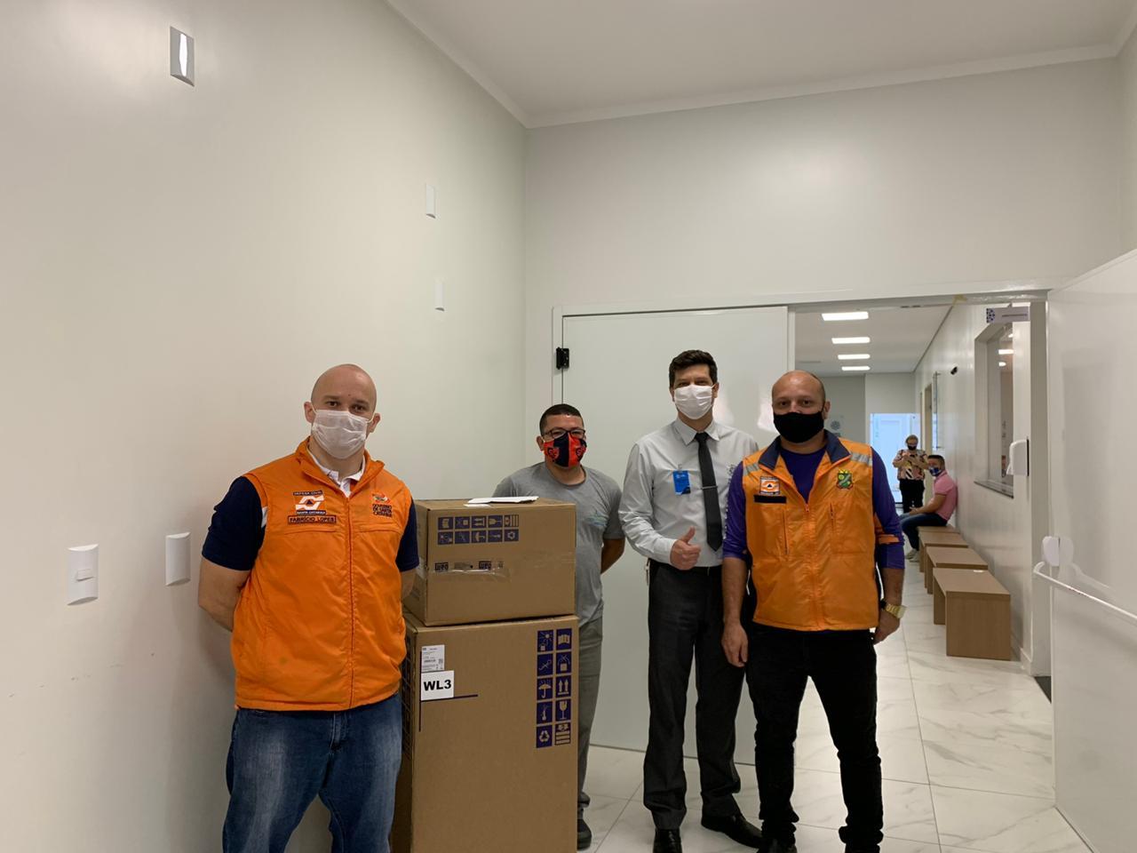 Brusque recebe mais um ventilador pulmonar do Governo do Estado