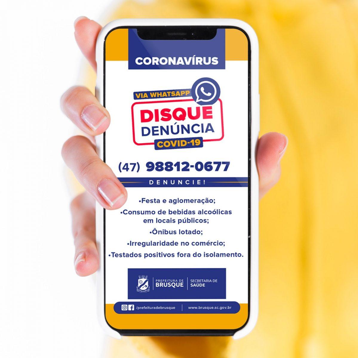 Covid-19: Vigilância em Saúde disponibiliza Disque Denúncia