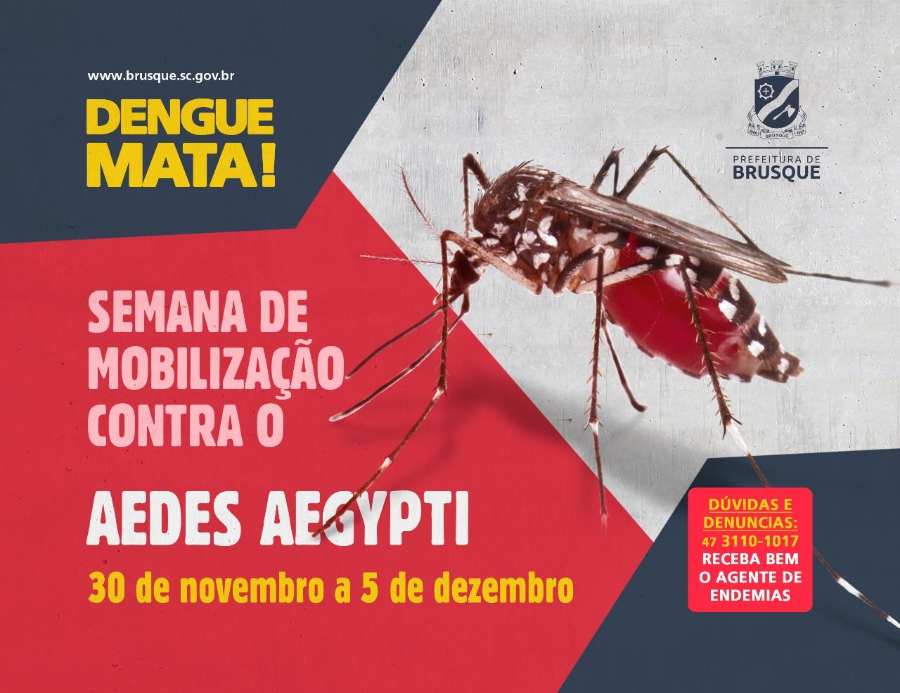 Brusque realiza semana de Mobilização contra Dengue