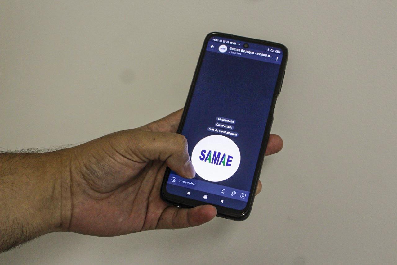 Samae Brusque cria canal de avisos no Telegram