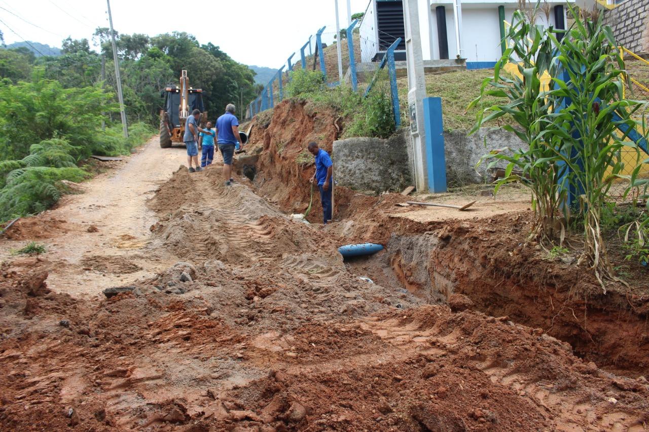 Em parceria com o Obras, Samae realiza obra de drenagem no Santa Luzia