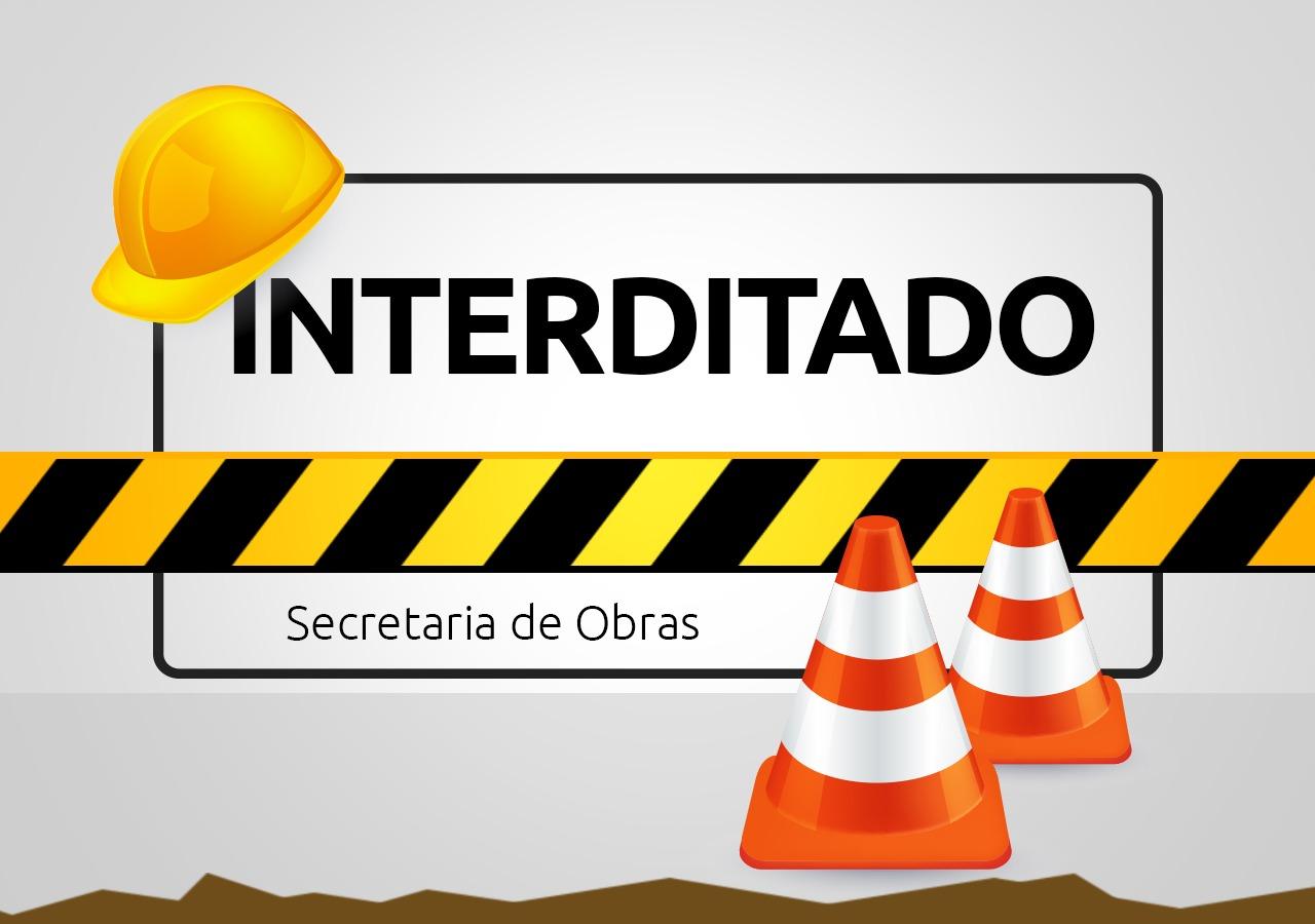 Rua Itajaí ficará interditada durante esta terça-feira (9) e quarta-feira (10)