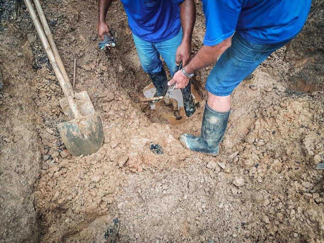 Hercílio Luz: Samae efetua conserto sem interromper fornecimento