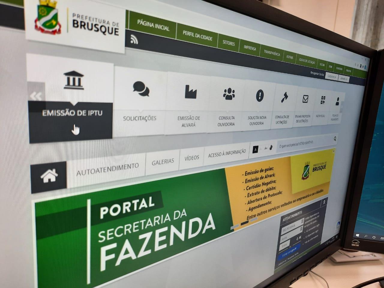 Prefeitura de Brusque já arrecadou 55% do valor total do IPTU 2021
