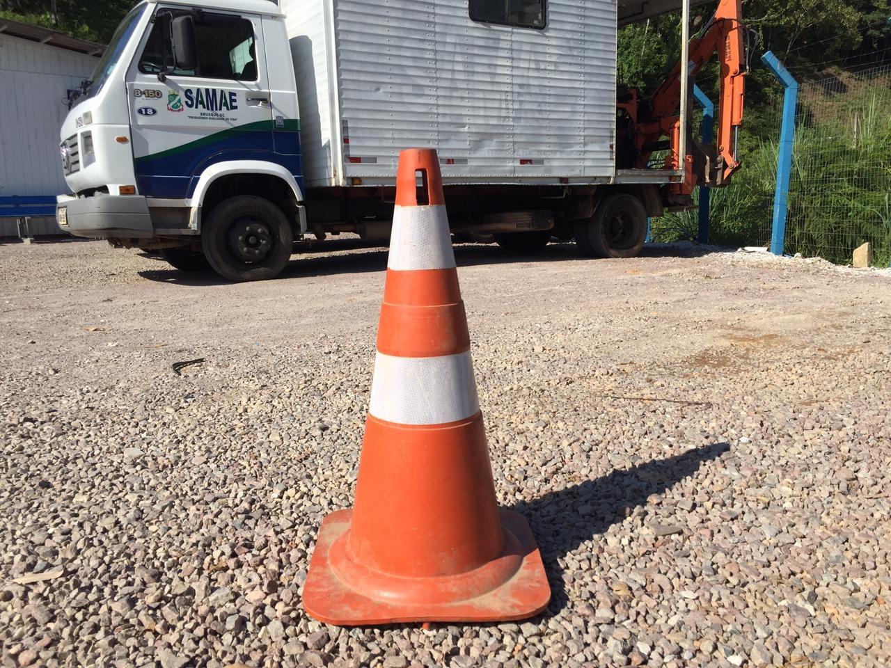 Aumentam os casos de furto de cones e equipamentos de sinalização do Samae