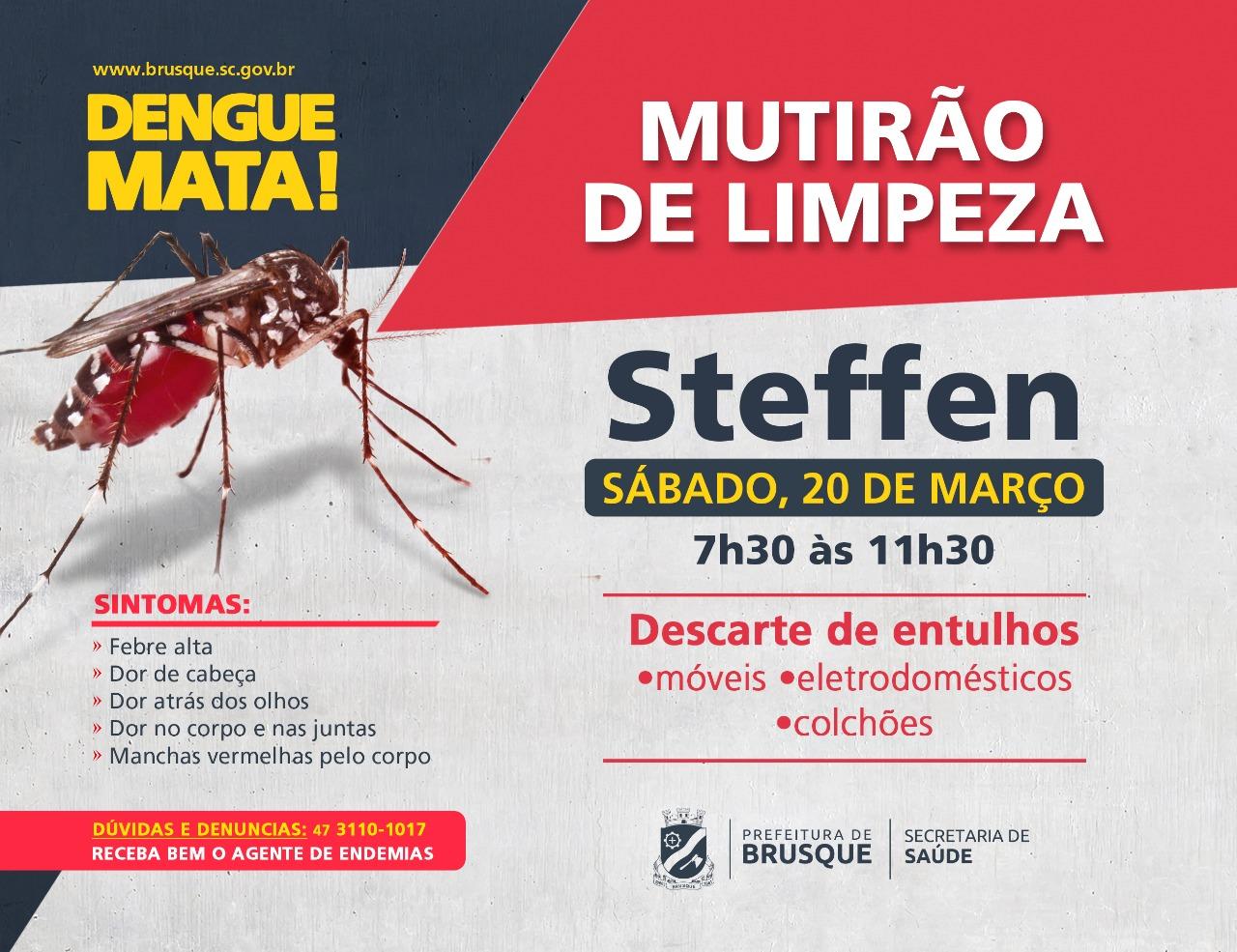 Combate a Endemias realiza mutirão de limpeza no bairro Steffen