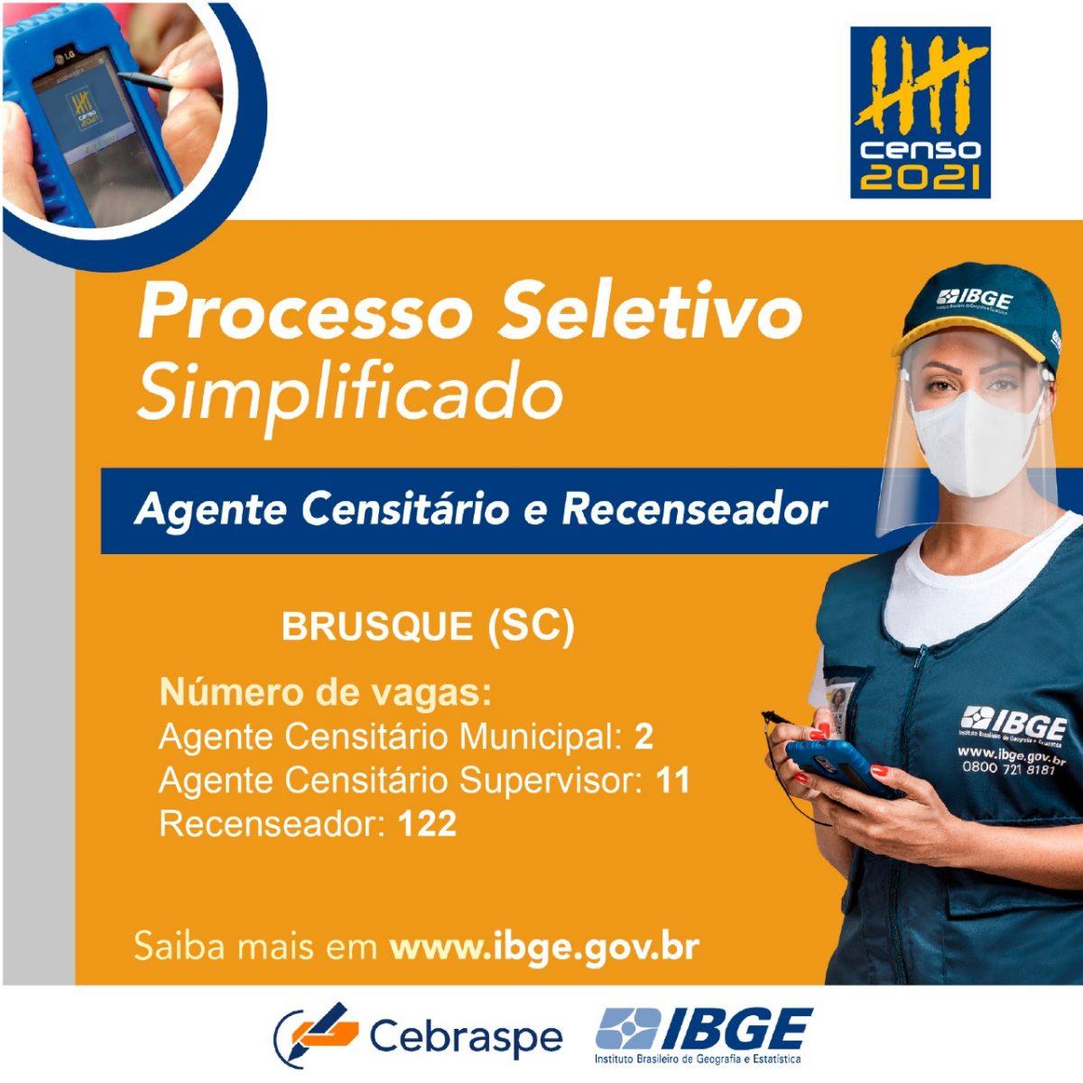 IBGE: Inscrições para processo seletivo de recenseadores começam na próxima terça-feira (23)