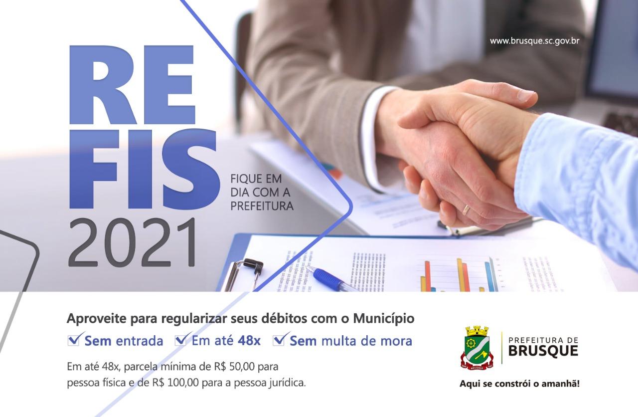 Contribuintes podem aderir ao Programa de Recuperação Fiscal (REFIS) 2021