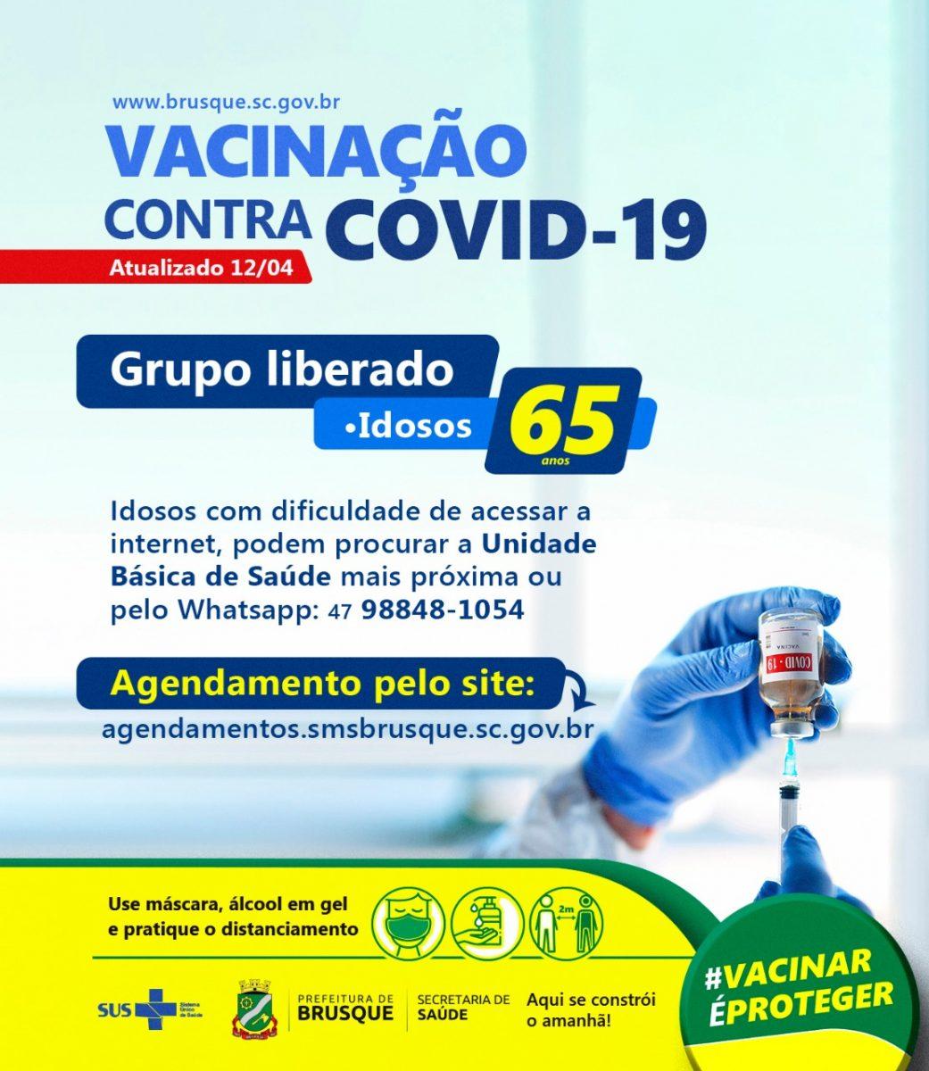 Covid-19: Ainda há vagas para vacinação de idosos com mais de 65 anos