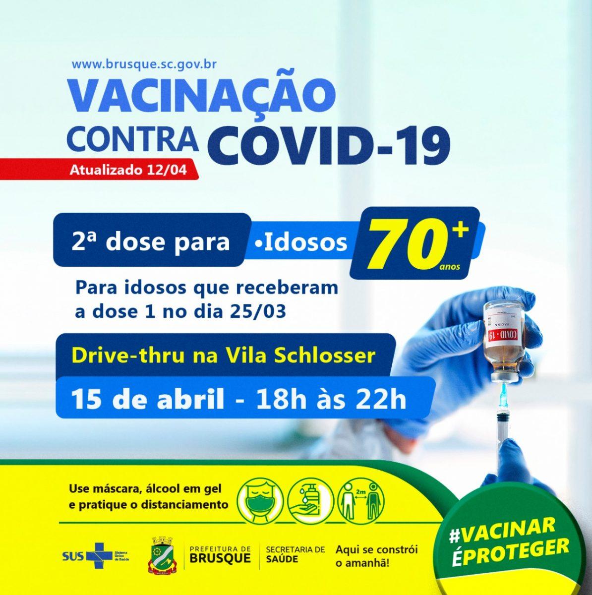 Covid 19: Segunda dose para idosos que receberam a vacina em 25 de março é antecipada