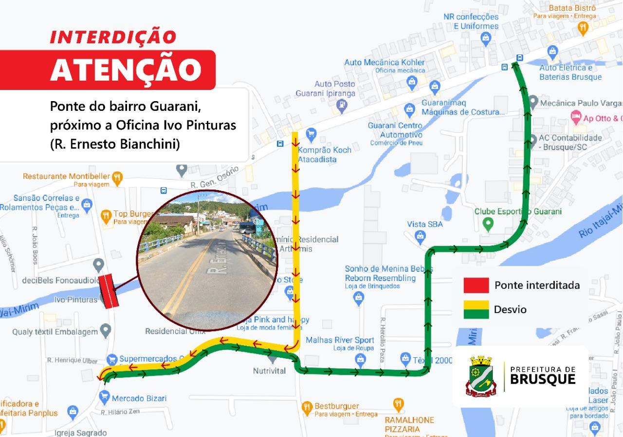 Rua Ernesto Bianchini será interditada na próxima segunda-feira (19)
