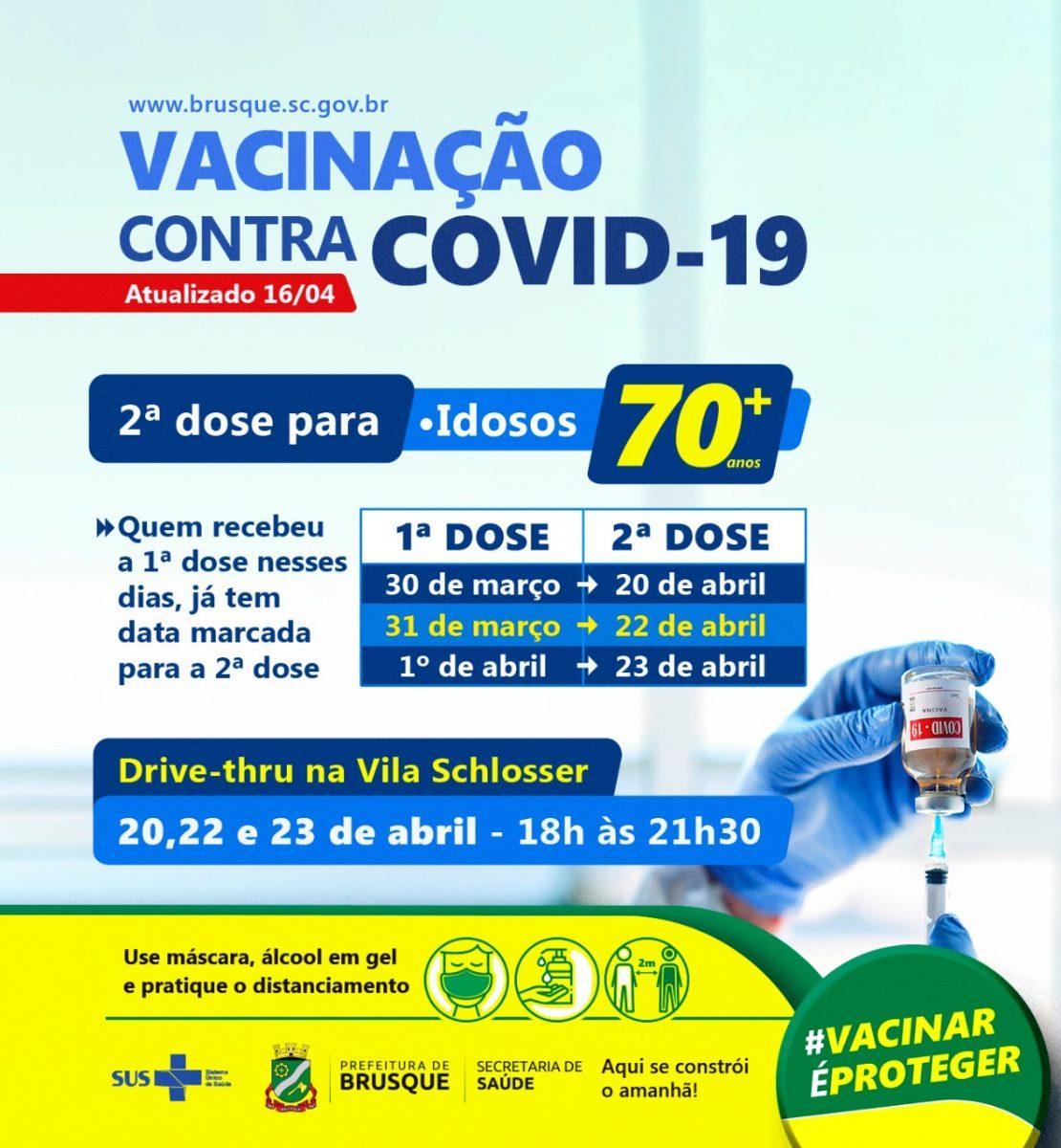 Covid-19: Brusque divulga datas para mais três edições de drive thru de vacinação