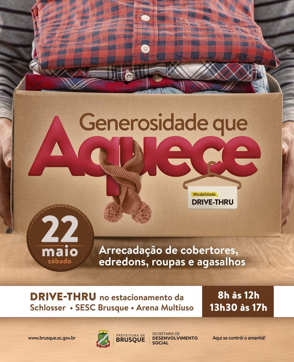 Generosidade que aquece: ação arrecadada agasalhos e cobertores