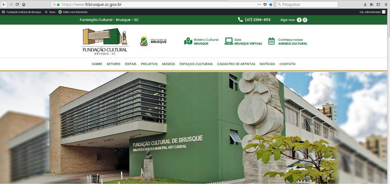 Fundação Cultural lança novo website