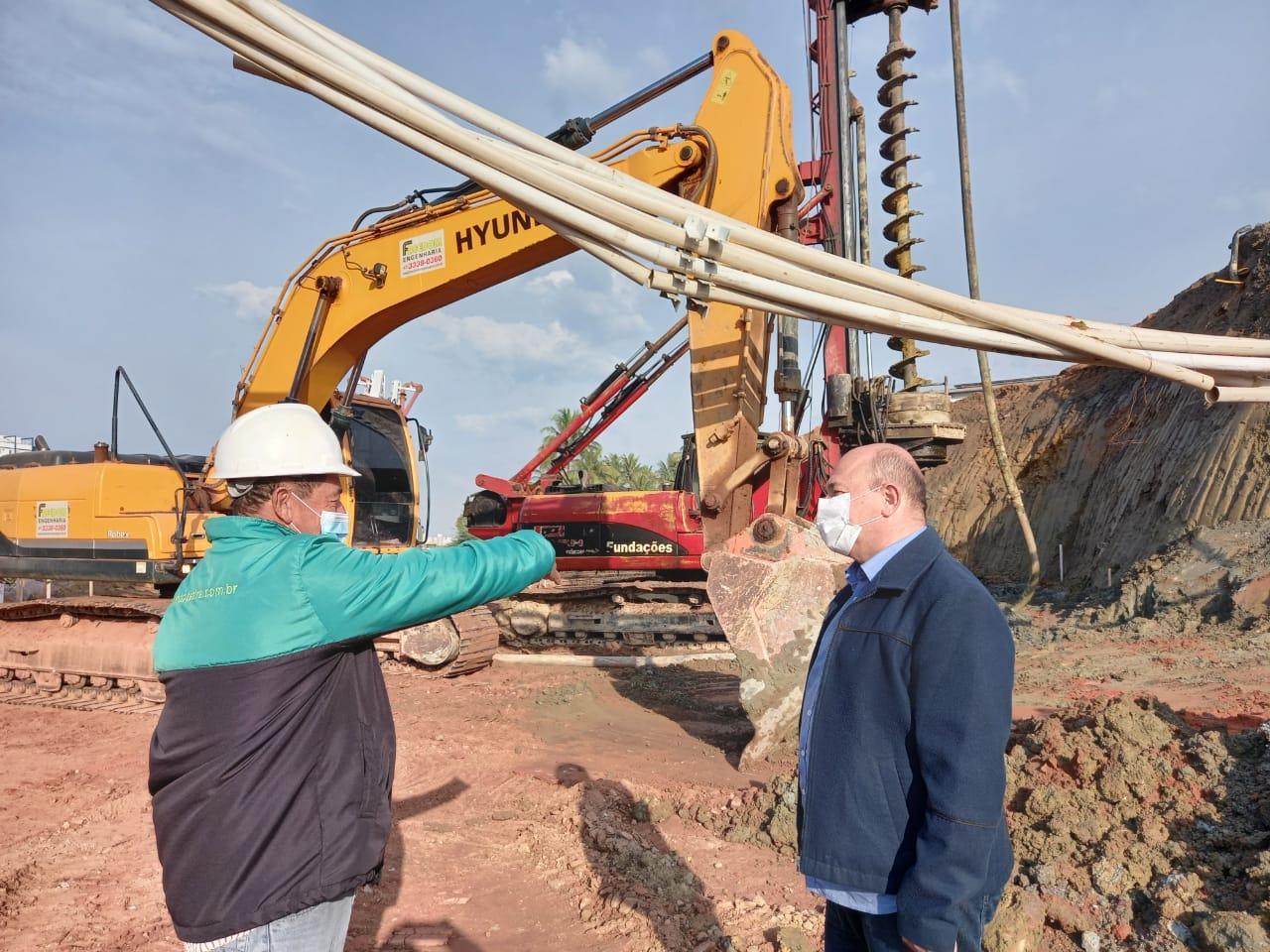 Continuam as obras para reconstrução da Ponte João Libério Benvenutti