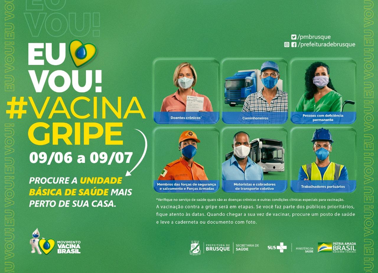 Influenza: Cobertura vacinal em Brusque supera os 40%