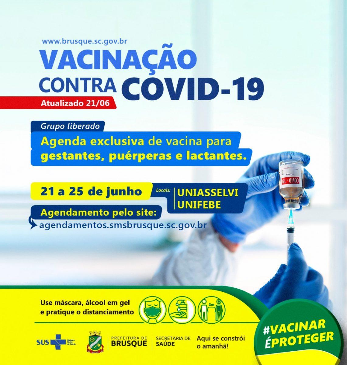 Covid-19: Agenda exclusiva para vacina de gestantes, puérperas e lactantes abre hoje (21)