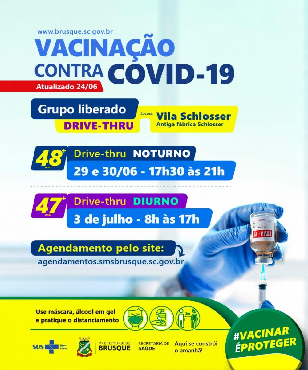 Covid-19: Brusque abre novos agendamentos para vacinação