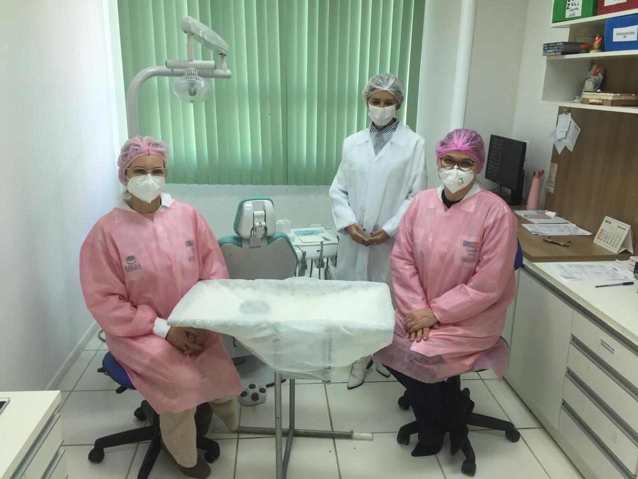 Odontopediatras de Lages visitam o CEO de Brusque