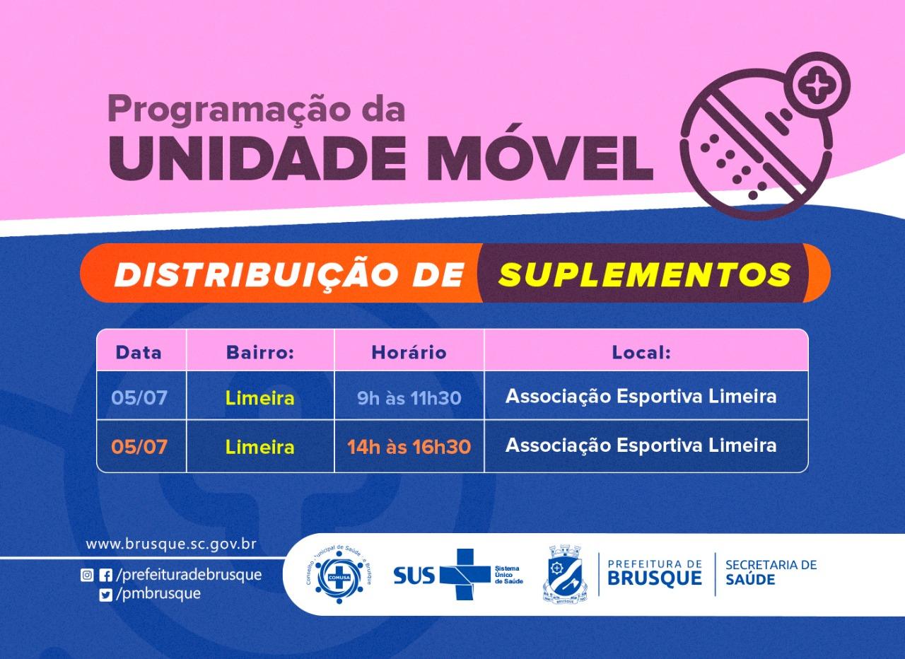 Covid-19: Segunda-feira (5) haverá distribuição de suplementos na Limeira