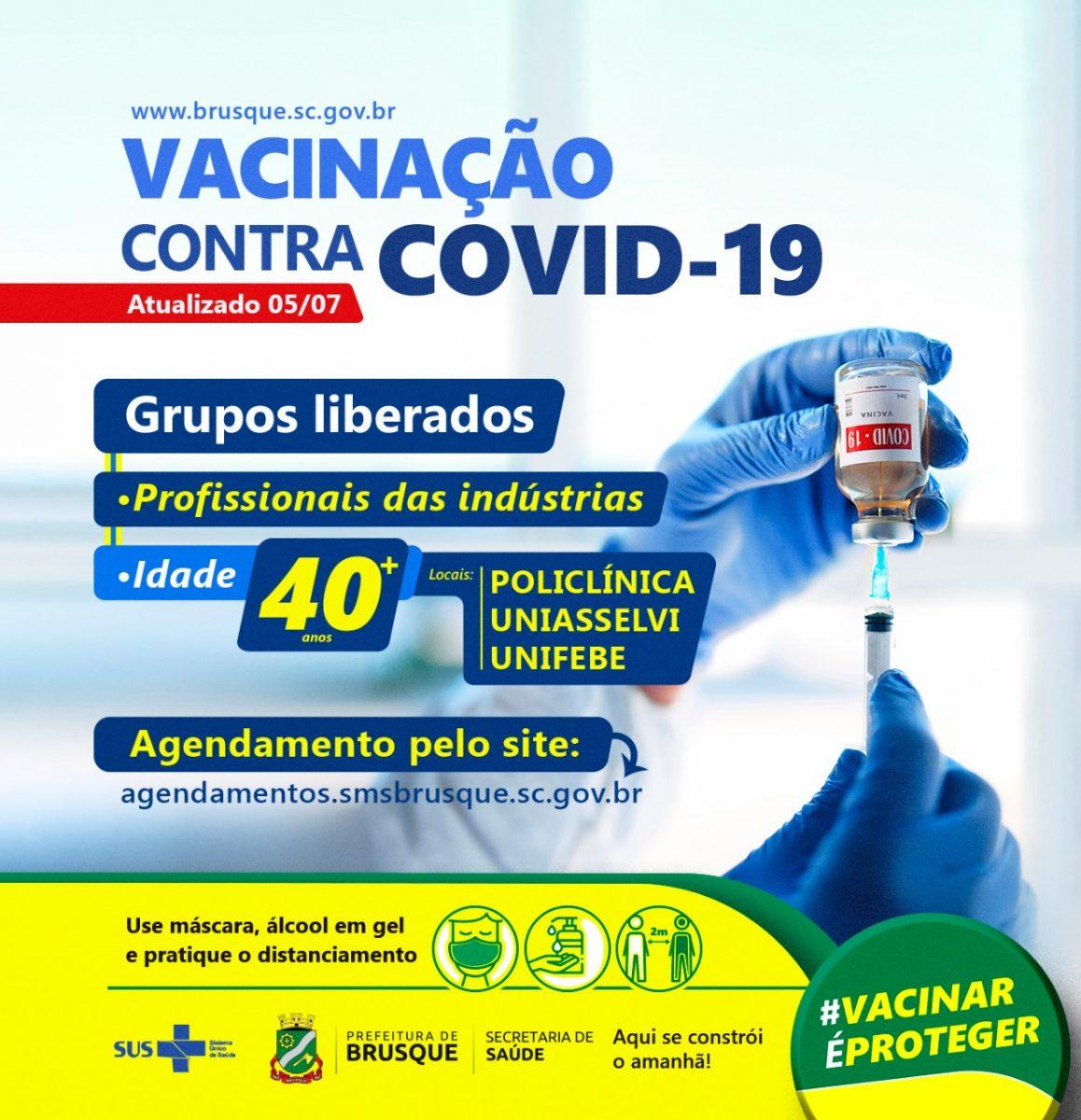 Covid-19: Brusque ganha quatro novas salas de vacina na Policlínica a partir desta terça-feira