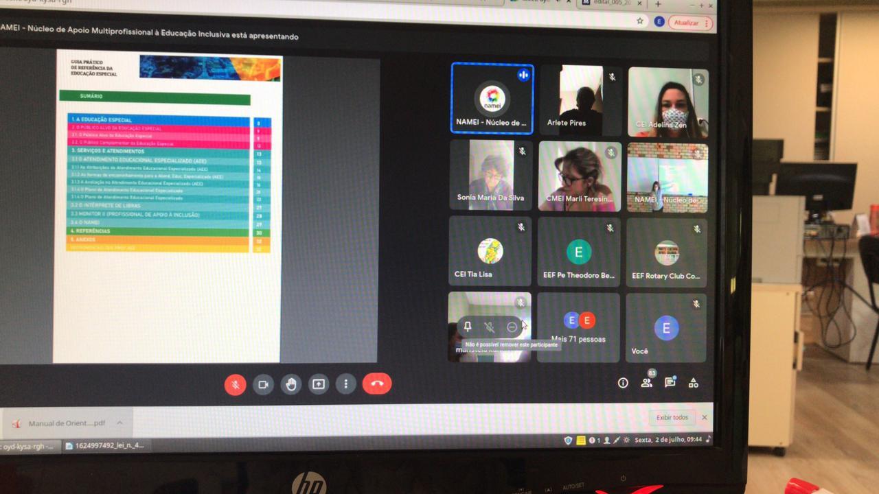 De forma inédita, Secretaria Municipal de Educação de Brusque realizou uma reunião bimodal: presencial e online