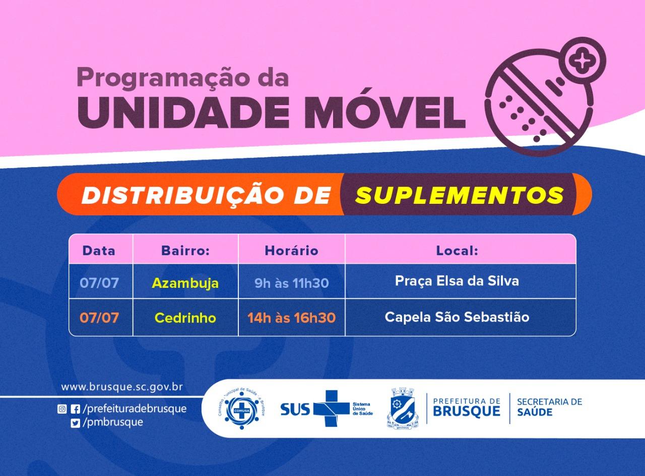 Covid-19: Unidade Móvel distribui suplementos na Azambuja e no Cedrinho nesta quarta-feira