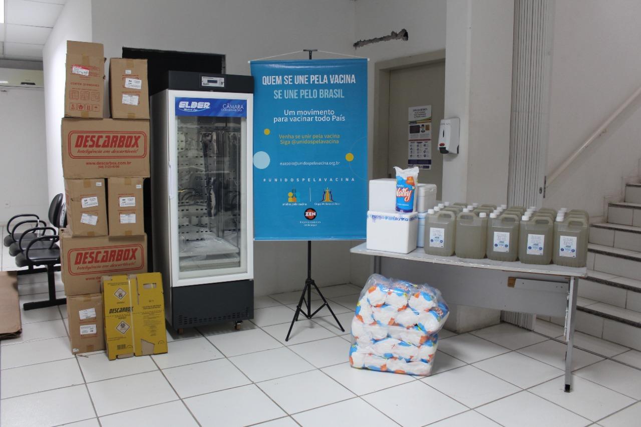 Secretaria de Saúde recebe doação de Câmara Fria