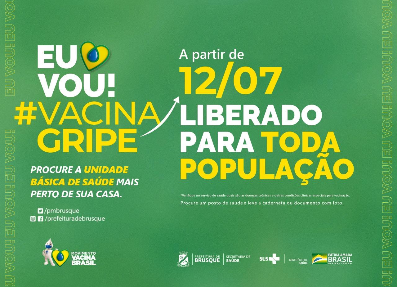 Influenza: Campanha de Vacinação é prorrogada e aberta a toda a população
