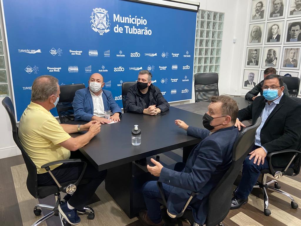 O prefeito de Brusque realizou visita técnica à cidade de Tubarão