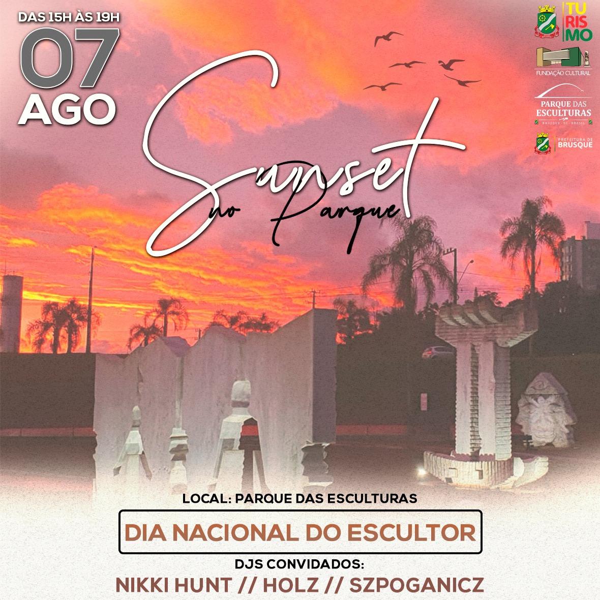 Sábado (7) é dia sunset no Parque das Esculturas