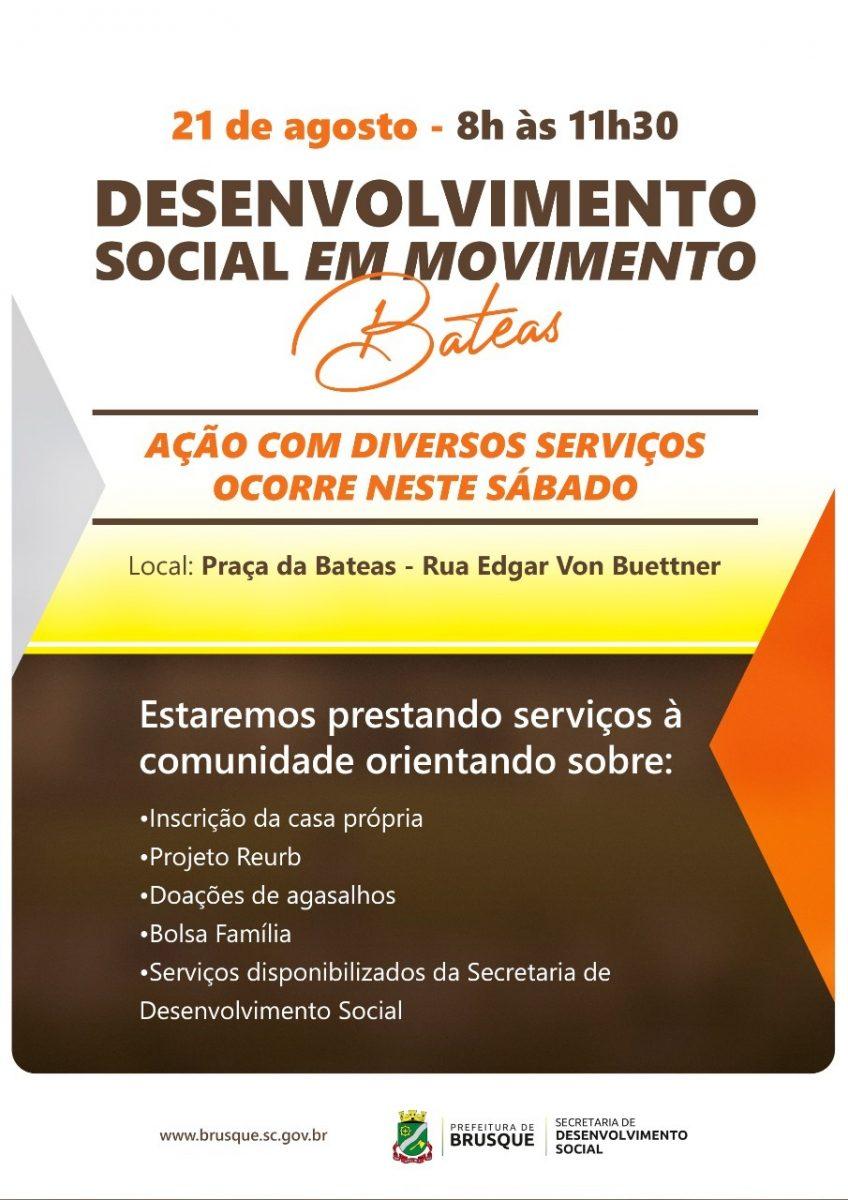 Bateas recebe Desenvolvimento Social em Movimento