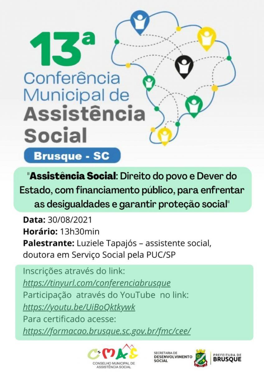 Conferência Municipal de Assistência Social ocorre nesta segunda-feira (30)