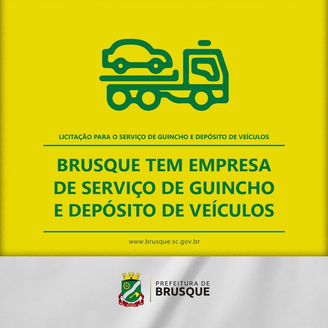 Brusque tem empresa de serviço de guincho e depósito de veículos