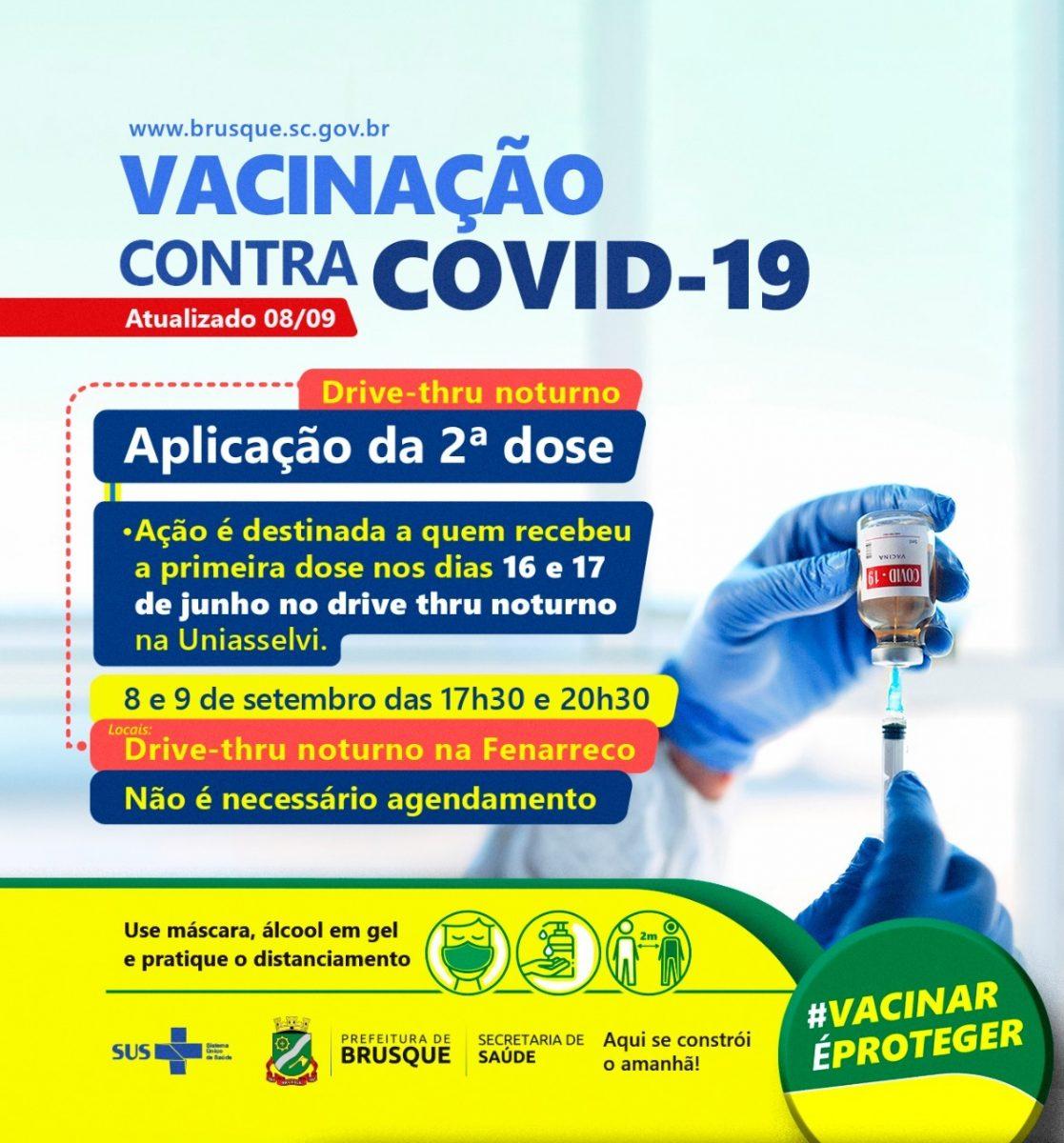 Covid-19: Hoje e amanhã tem drive thru noturno de dose 2 na Fenarreco