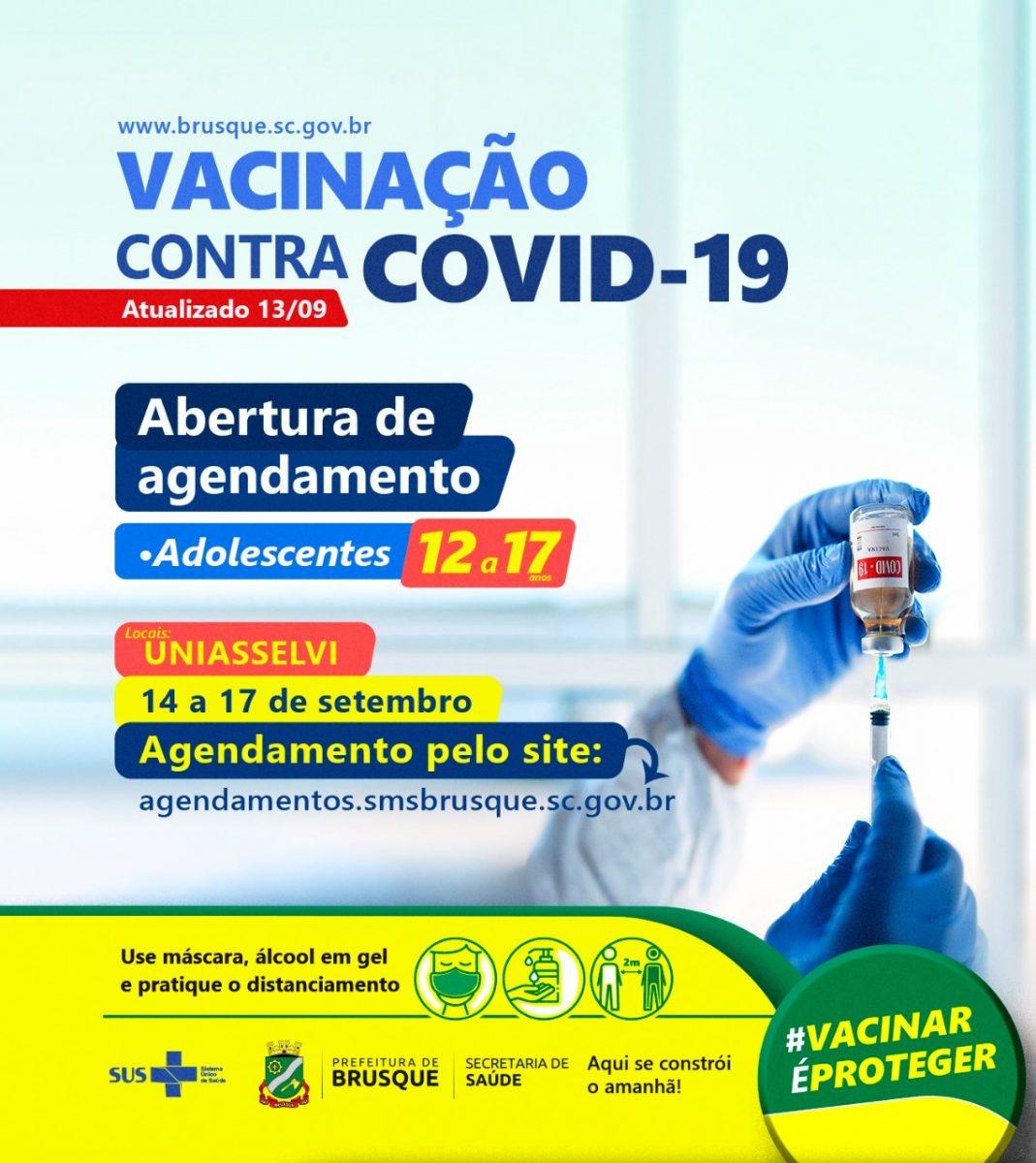 Covid-19: aberta agenda para vacina de adolescentes de 12 a 17 anos sem comorbidades